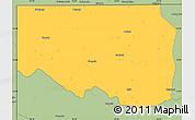 Savanna Style Simple Map of Zambezi