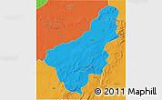 Political 3D Map of Chinsali