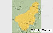 Savanna Style 3D Map of Chinsali