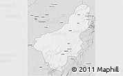 Silver Style 3D Map of Chinsali