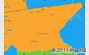 Political Simple Map of Kaputa