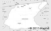 Silver Style Simple Map of Kaputa