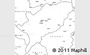 Blank Simple Map of Kasama