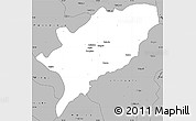 Gray Simple Map of Kasama