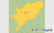 Savanna Style Simple Map of Kasama