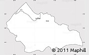 Silver Style Simple Map of Mbala, cropped outside