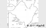 Blank Simple Map of Mpika