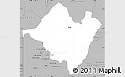 Gray Simple Map of Mpika
