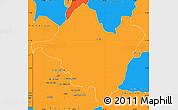 Political Simple Map of Mpika