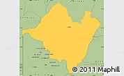 Savanna Style Simple Map of Mpika