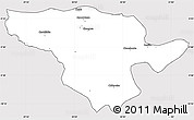 Silver Style Simple Map of Mporokoso, cropped outside