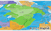 Political Shades Panoramic Map of Northern