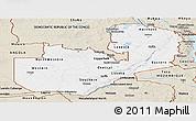 Classic Style Panoramic Map of Zambia