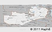 Gray Panoramic Map of Zambia