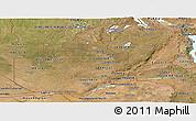Satellite Panoramic Map of Zambia