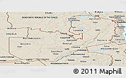 Shaded Relief Panoramic Map of Zambia