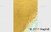 Physical Map of Choma