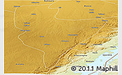 Physical Panoramic Map of Choma