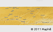 Physical Panoramic Map of Livingstone