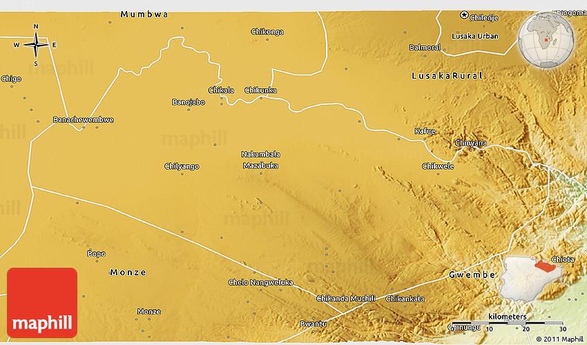 Zambia Physical Map meinafrikanischemangotabletten