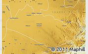 Physical Map of Mazabuka