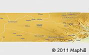 Physical Panoramic Map of Mazabuka