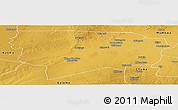 Physical Panoramic Map of Namwala