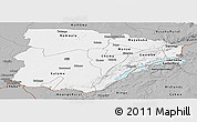 Gray Panoramic Map of Southern