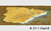 Physical Panoramic Map of Southern, darken
