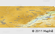 Physical Panoramic Map of Southern