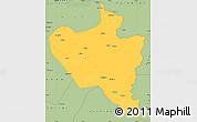 Savanna Style Simple Map of Kaoma