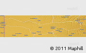 Physical Panoramic Map of Lukulu