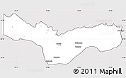 Silver Style Simple Map of Lukulu, cropped outside