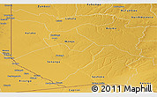 Physical Panoramic Map of Western