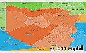 Political Shades Panoramic Map of Western