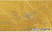 Physical 3D Map of Bulawayo Rural