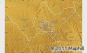 Physical Map of Bulawayo Rural