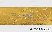 Physical Panoramic Map of Bulawayo Rural