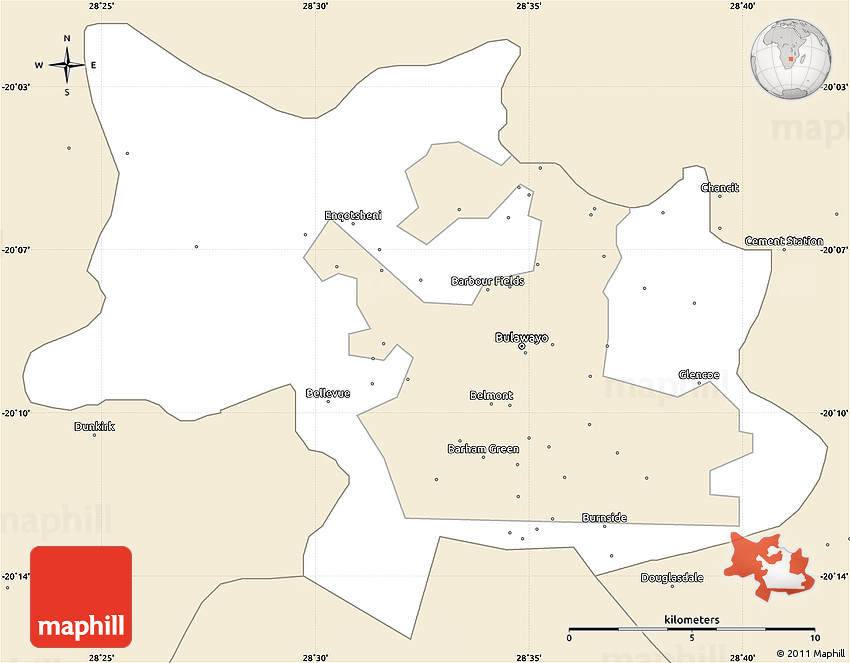 Classic style simple map of bulawayo rural 2d gumiabroncs Gallery
