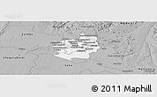 Gray Panoramic Map of Harare rural
