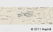 Shaded Relief Panoramic Map of Harare rural