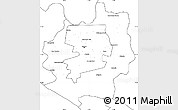 Blank Simple Map of Harare rural