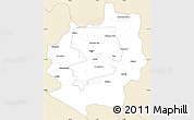 Classic Style Simple Map of Harare rural