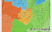 Political Shades Map of Harare