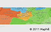 Political Shades Panoramic Map of Harare
