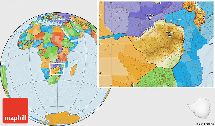 Physical map of zimbabwe by bestcountryreportscom filezimbabwe physical location map of zimbabwe political outside zimbabwe physical map gumiabroncs Images
