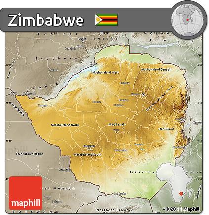 Physical map of zimbabwe by bestcountryreportscom filezimbabwe free physical map of zimbabwe semidesaturated zimbabwe physical map gumiabroncs Images