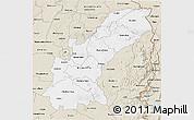 Classic Style 3D Map of Mashonaland East