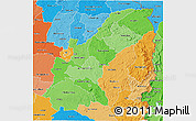 Political Shades 3D Map of Mashonaland East