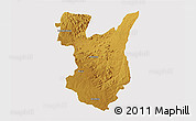 Physical 3D Map of Goromonzi, cropped outside